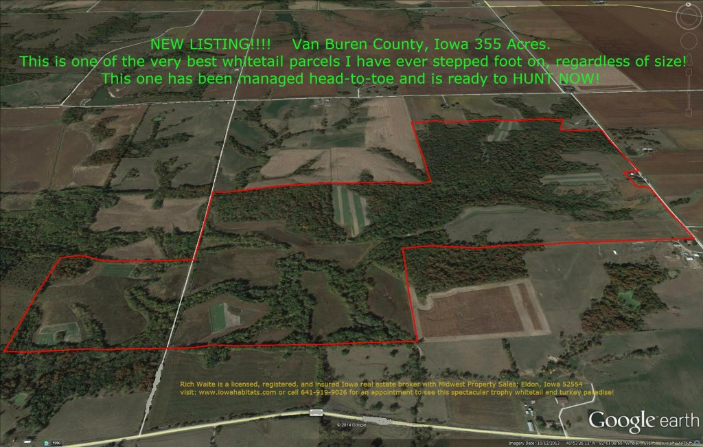 Van Buren County Iowa 355 Acre Farm for Sale