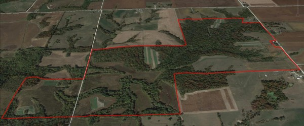 Aerial Photo of Van Buren county Iowa 355 acre Iowa farm for sale