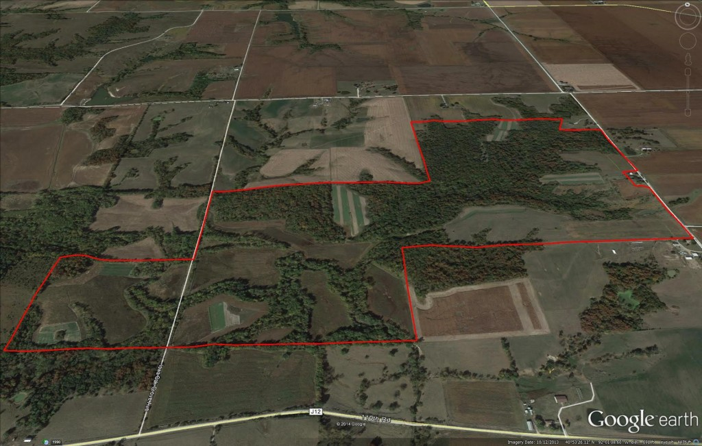 Van Buren county Iowa 355 acre farm for sale -- picture.