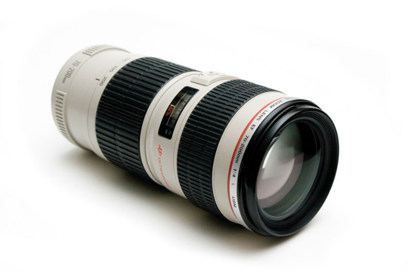 Canon 70-200 f/4 zoom lens picture.