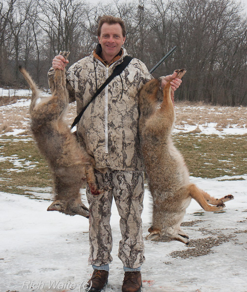 Picture of a successful coyote hunt.